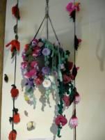 Knitted hanging basket